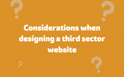 Considerations when designing a third sector website